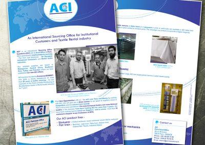 Création plaquette commerciale à l'international